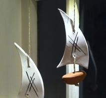 Båt - brun liten