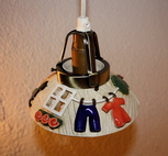 Fönsterlampa-Tvättlina