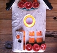 Ringklocka-Fönster aprikosa blommor