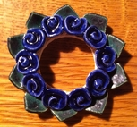 Kronljus-Manschett blå