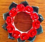 Kronljus-Manschett röd