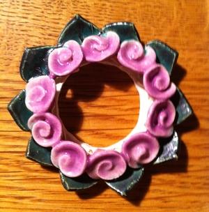 Kronljus-Manschett lila