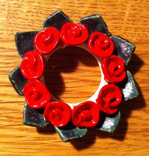 Adventsljusstake-Manschett röd