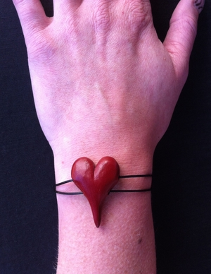 Armband - rött
